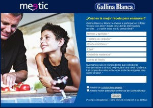 meetic y gallina blanca