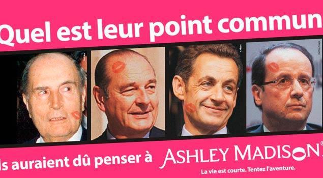 Presidentes franceses infieles y AshleyMadison